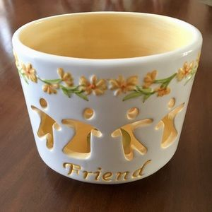 "🎀 ""Friend"" Tea Light Candle Holder"